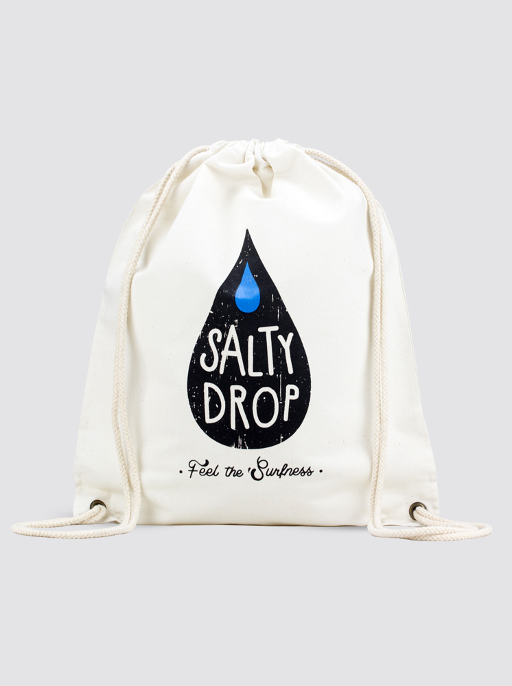 Salty Drop Logo Canvas Ba...