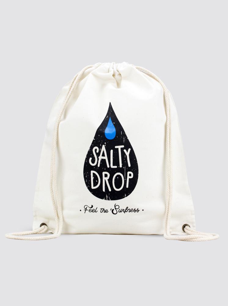 Salty Drop Logo Canvas Ba...