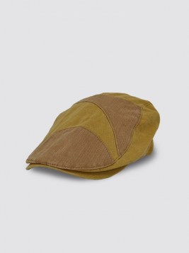 CP96_CAMEL PATCHWORK FLAT HAT_B